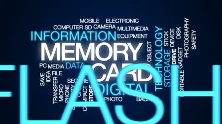 compacto : Memory card animated word cloud, text design animation. Vídeos