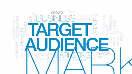 targeting : Target audience animated word cloud, text design animation.Kinetic typography.