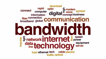 Bandwidth animated word cloud, text design animation. Wideo