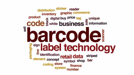 leitor : Barcode animated word cloud, text design animation.