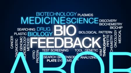 oncology : Bio feedback animated word cloud, text design animation. Stock Footage
