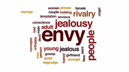 fráze : Envy animated word cloud, text design animation.