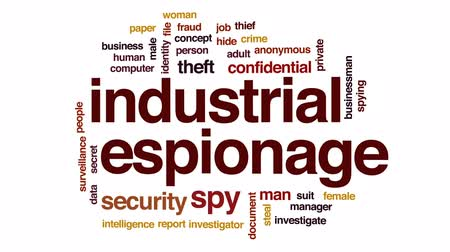 investigar : Industrial espionage animated word cloud, text design animation. Vídeos