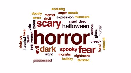 perili : Horror animated word cloud, text design animation.