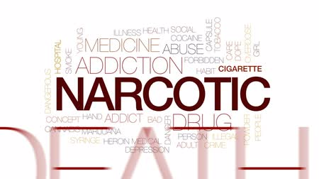 seringa : Narcotic animated word cloud, text design animation. Kinetic typography.