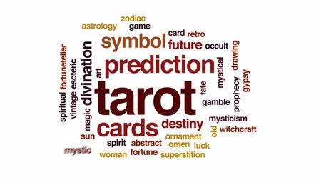 babona : Tarot animated word cloud, text design animation. Stock mozgókép