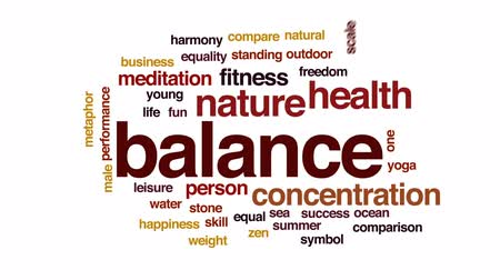harmonie : Balance animated word cloud, text design animation.