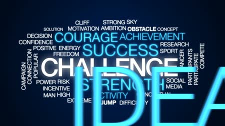 participants : Challenge animated word cloud, text design animation. Stock Footage