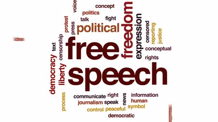 demokratický : Free speech animated word cloud, text design animation. Dostupné videozáznamy