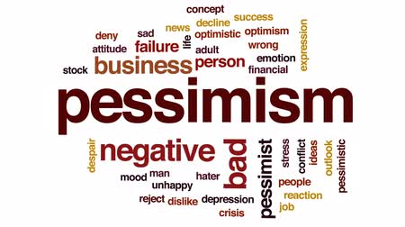 hater : Pessimism animated word cloud, text design animation.