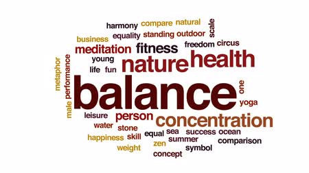 eşitlik : Balance animated word cloud, text design animation.