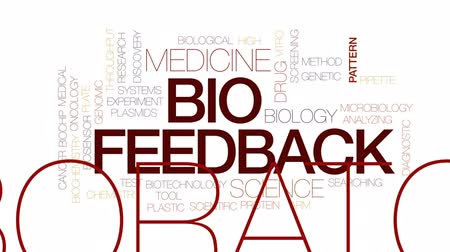 oncology : Bio feedback animated word cloud, text design animation. Kinetic typography. Stock Footage