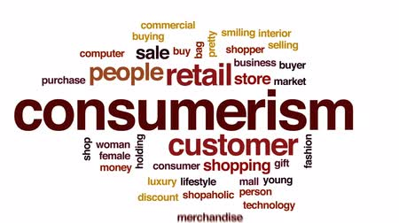 bolsa : Consumerism animated word cloud, text design animation.