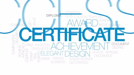 intricacy : Certificate animated word cloud, text design animation. Kinetic typography.