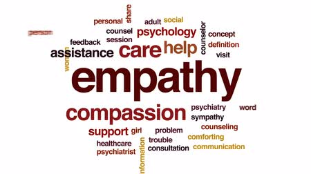 counsel : Empathy animated word cloud, text design animation. Stock Footage