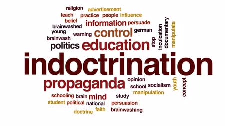 persuasion : Indoctrination animated word cloud, text design animation.
