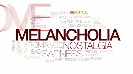 poeta : Melancholia animated word cloud, text design animation. Kinetic typography.