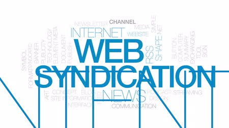 publicity : Web syndication animated word cloud, text design animation. Kinetic typography. Stock Footage