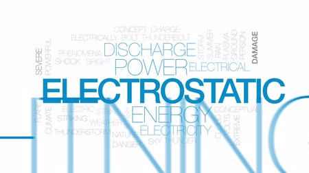 electrostatic : Electrostatic animated word cloud, text design animation. Kinetic typography.