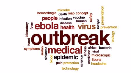 viral : Outbreak animated word cloud, text design animation.
