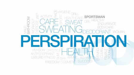 antiperspirant : Perspiration animated word cloud, text design animation. Kinetic typography.