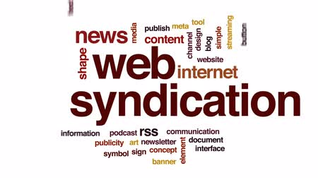 блог : Web syndication animated word cloud, text design animation.
