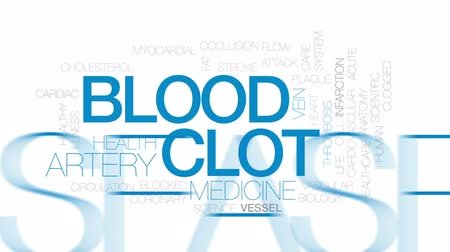 blood circulation : Blood clot animated word cloud, text design animation. Kinetic typography.
