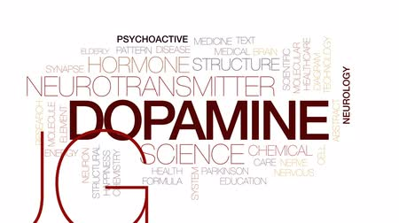 konstrukční prvky : Dopamine animated word cloud, text design animation. Kinetic typography. Dostupné videozáznamy