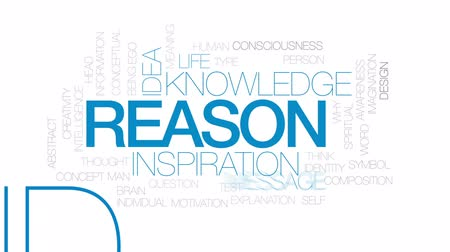 motivo : Reason animated word cloud, text design animation. Kinetic typography. Stock Footage