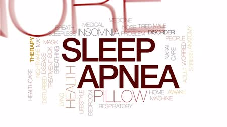 lidércnyomás : Sleep apnea animated word cloud, text design animation. Kinetic typography.