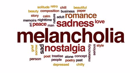 поэт : Melancholia animated word cloud, text design animation.