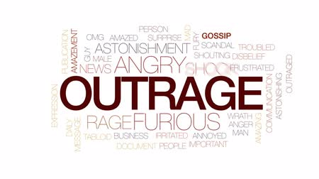 сплетни : Outrage animated word cloud, text design animation. Kinetic typography.