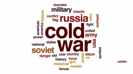 cold war : Cold war animated word cloud, text design animation.