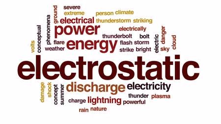 electrostatic : Electrostatic animated word cloud, text design animation.