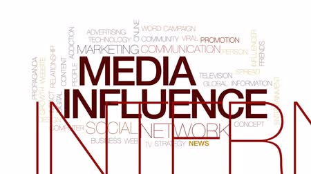 elterjed : Media influence animated word cloud, text design animation. Kinetic typography.