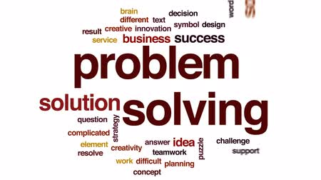 problem : Problem solving animated word cloud, text design animation.