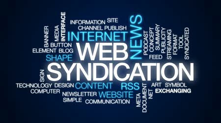 publicity : Web syndication animated word cloud, text design animation.