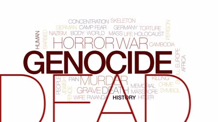 farpado : Genocide animated word cloud, text design animation. Kinetic typography.