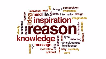 motivo : Reason animated word cloud, text design animation. Stock Footage