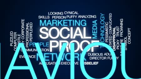 éretlen : Social proof animated word cloud, text design animation.