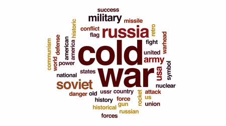 roket : Cold war animated word cloud, text design animation.