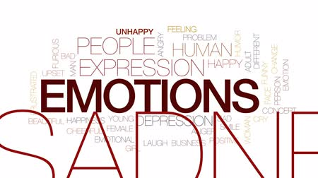 furioso : Emotions animated word cloud, text design animation. Kinetic typography. Vídeos