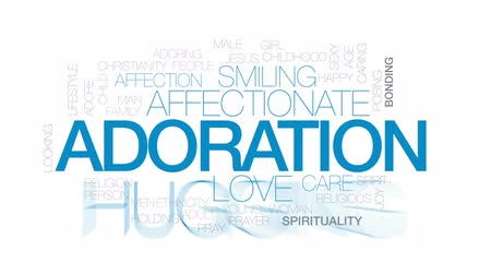 caring : Adoration animated word cloud, text design animation. Kinetic typography.