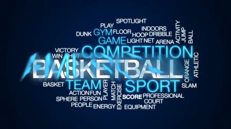 basketball : Basketball animated word cloud, text design animation.