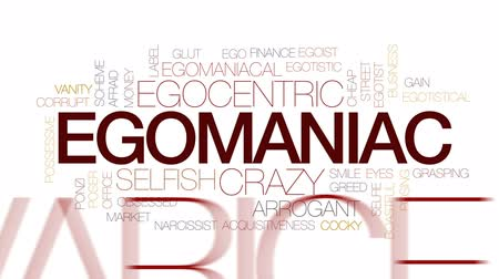 marnost : Egomaniac word cloud, text design animation. Kinetic typography.