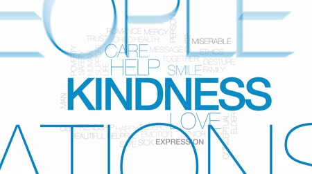 доверие : Kindness animated word cloud, text design animation. Kinetic typography.