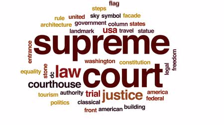 kolumna : court animated word cloud, text design animation. Wideo