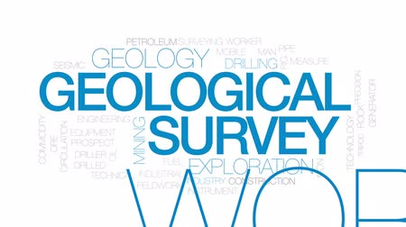 broca : Geological survey animated word cloud, text design animation. Kinetic typography.