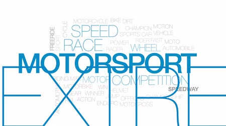 kask : Motorsport animated word cloud, text design animation. Kinetic typography. Stok Video