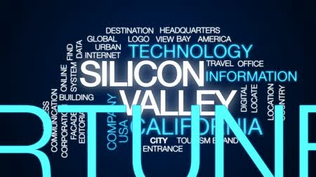 szilícium : Silicon valley animated word cloud, text design animation.